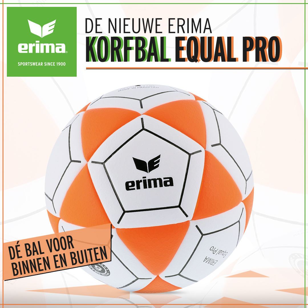 ERIMA Nederland introduceert nieuwe Korfbal: EQUAL PRO