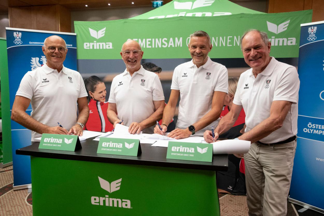 ERIMA verlengt samenwerking met het Oostenrijks Olympisch Comité
